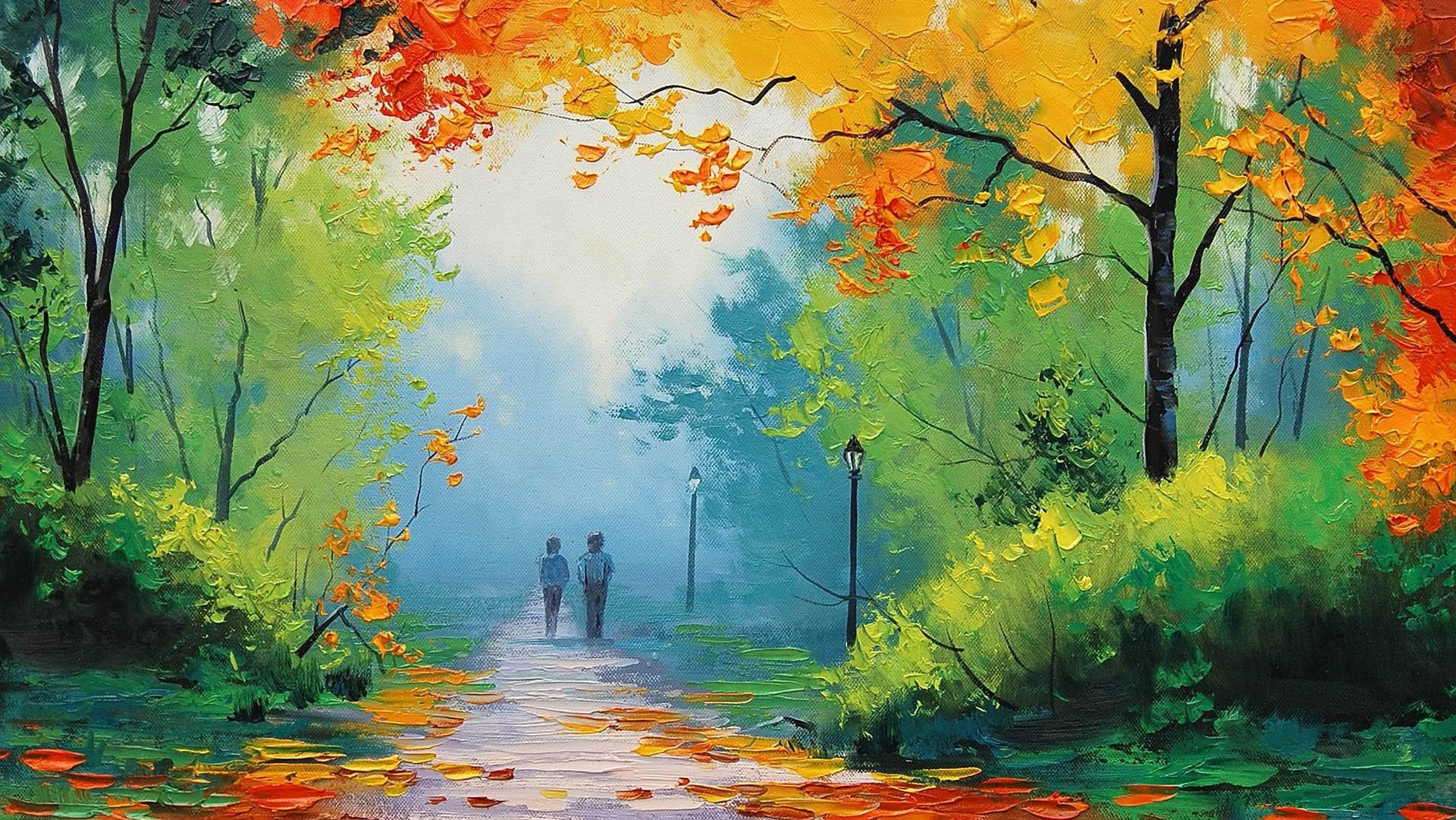 love painting wallpaper hd,natural landscape,painting,nature,watercolor paint,acrylic paint