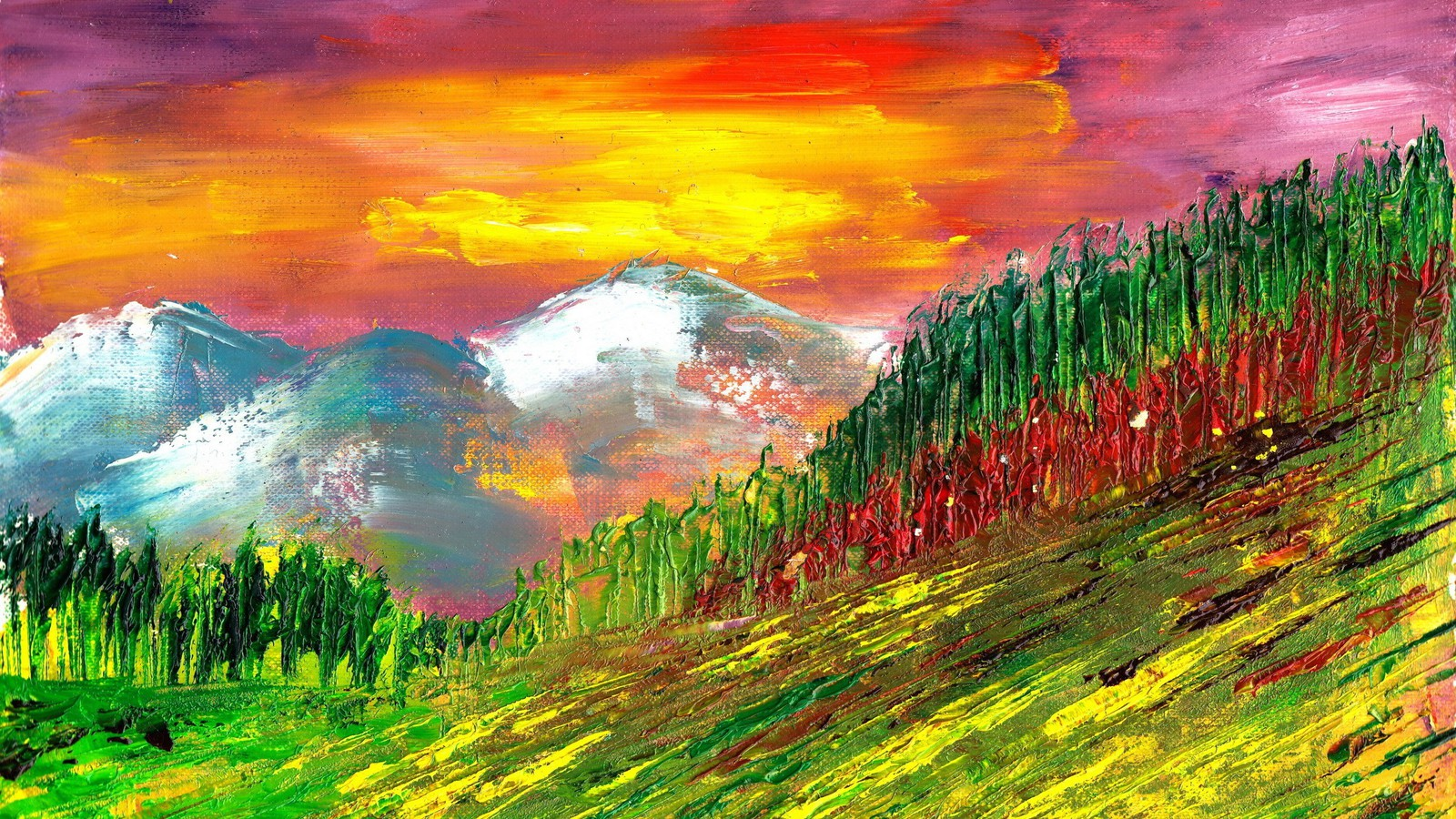 beautiful painting wallpaper,painting,nature,acrylic paint,sky,natural landscape