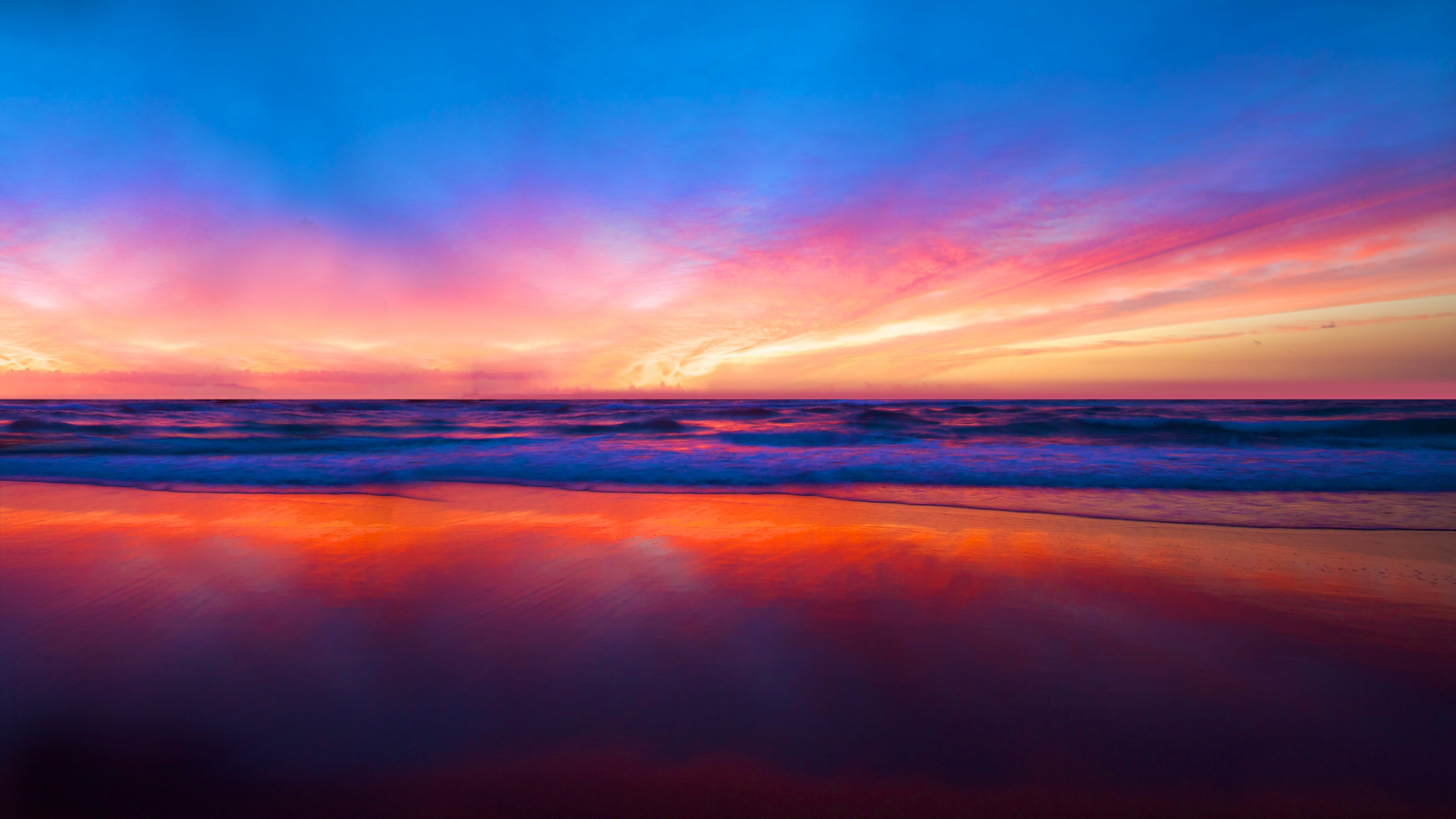 4k ultra hd wallpapers for pc,sky,afterglow,horizon,sunset,sunrise