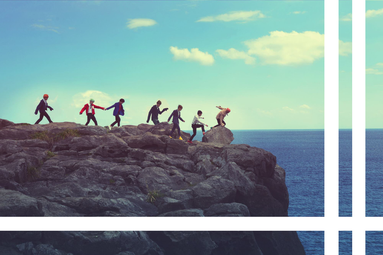 bts desktop wallpaper,sky,horizon,sea,ocean,rock