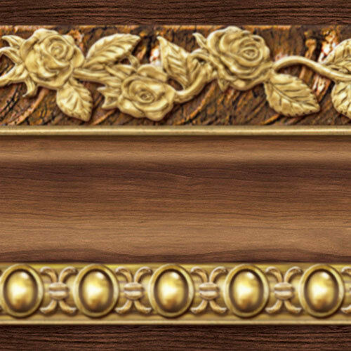brown and gold wallpaper,carving,metal,wood,brass,molding