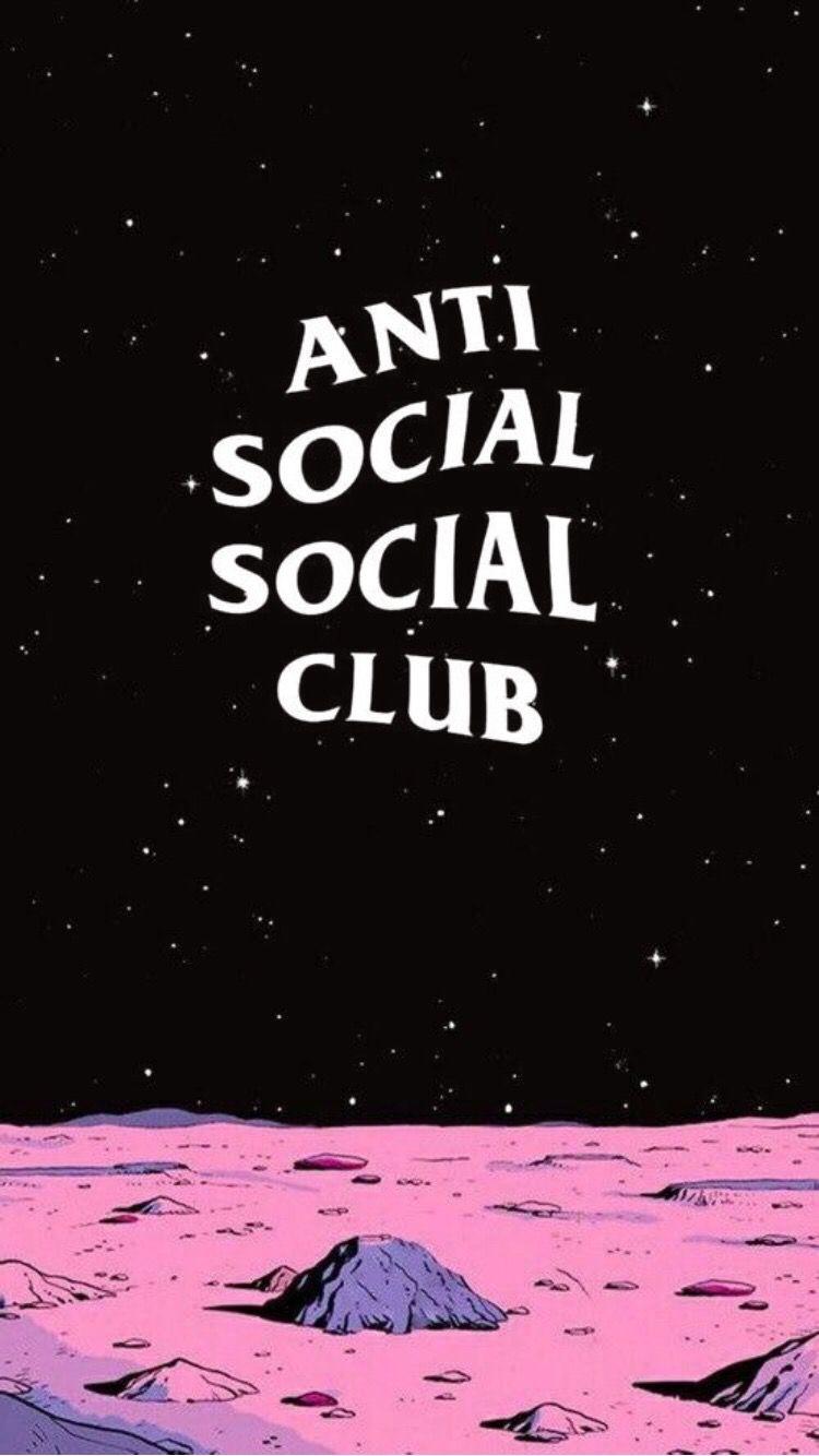 anti social social club wallpaper,text,font,cartoon,fiction,sky