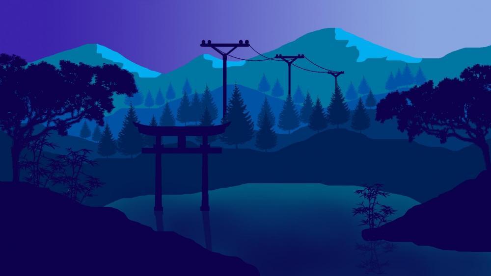 flat desktop wallpaper,blue,nature,water,sky,natural landscape