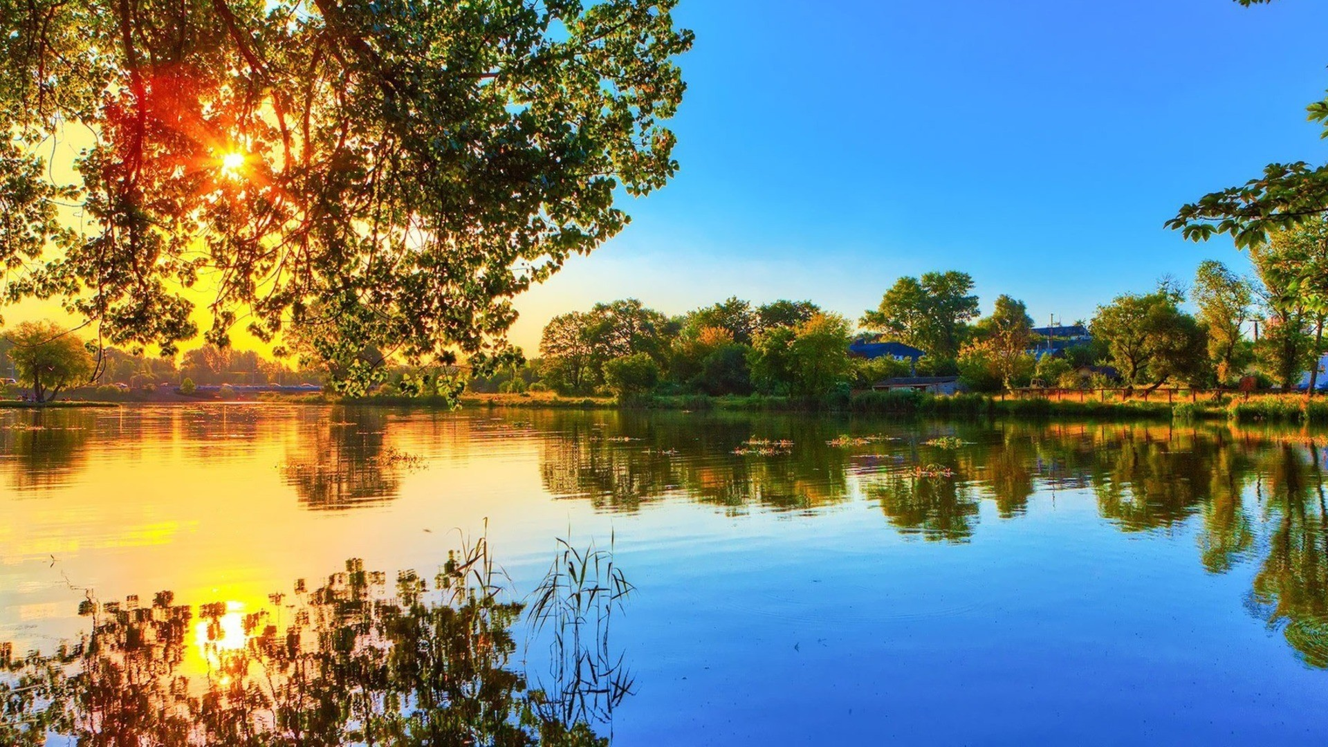 1080p 1920x1080 wallpaper,natural landscape,nature,reflection,sky,water