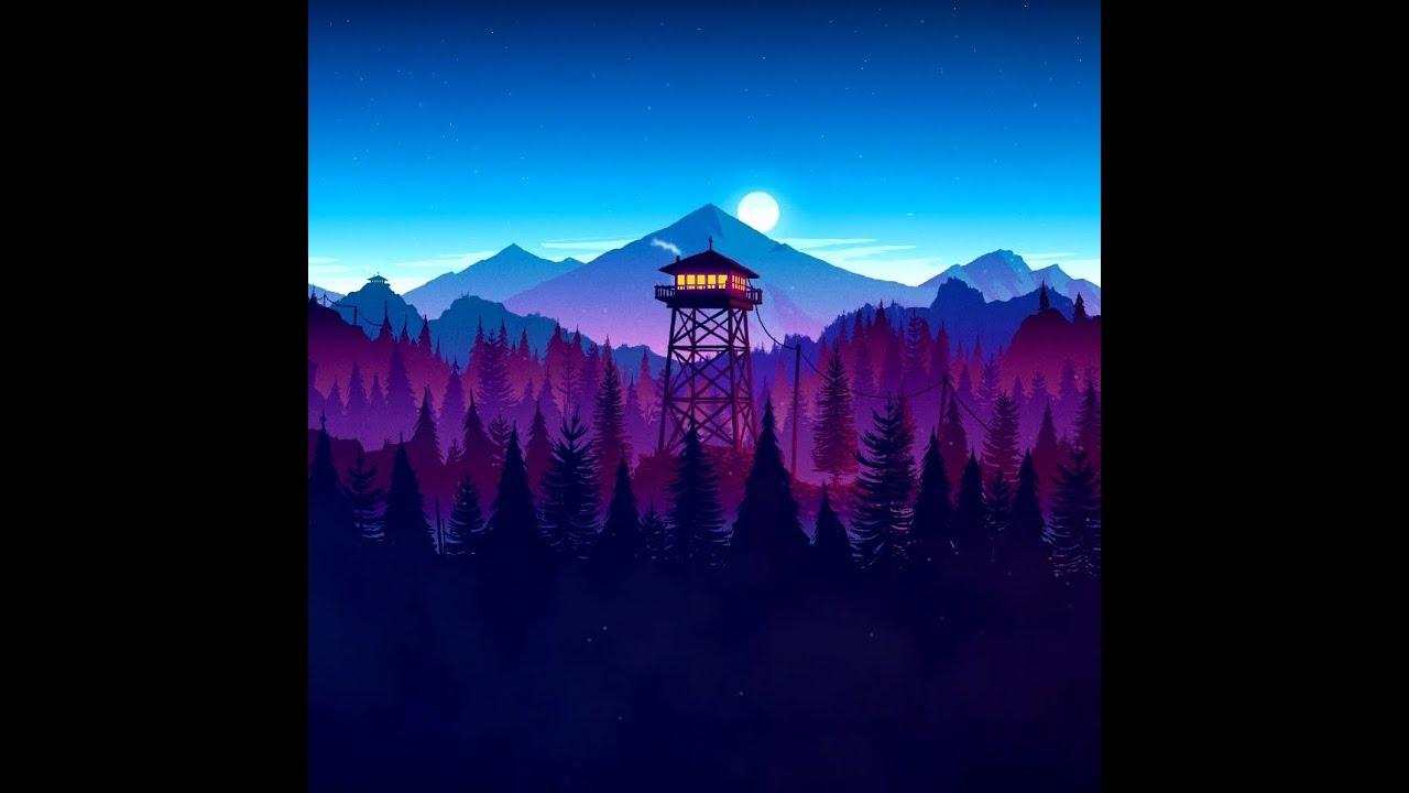 firewatch wallpaper,nature,sky,mountainous landforms,blue,mountain