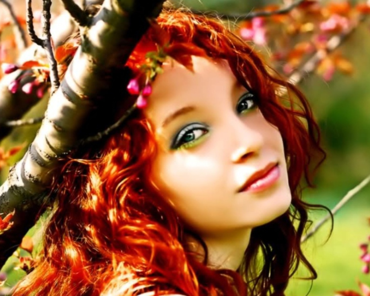 lovely girl wallpaper,hair,people in nature,beauty,hairstyle,leaf
