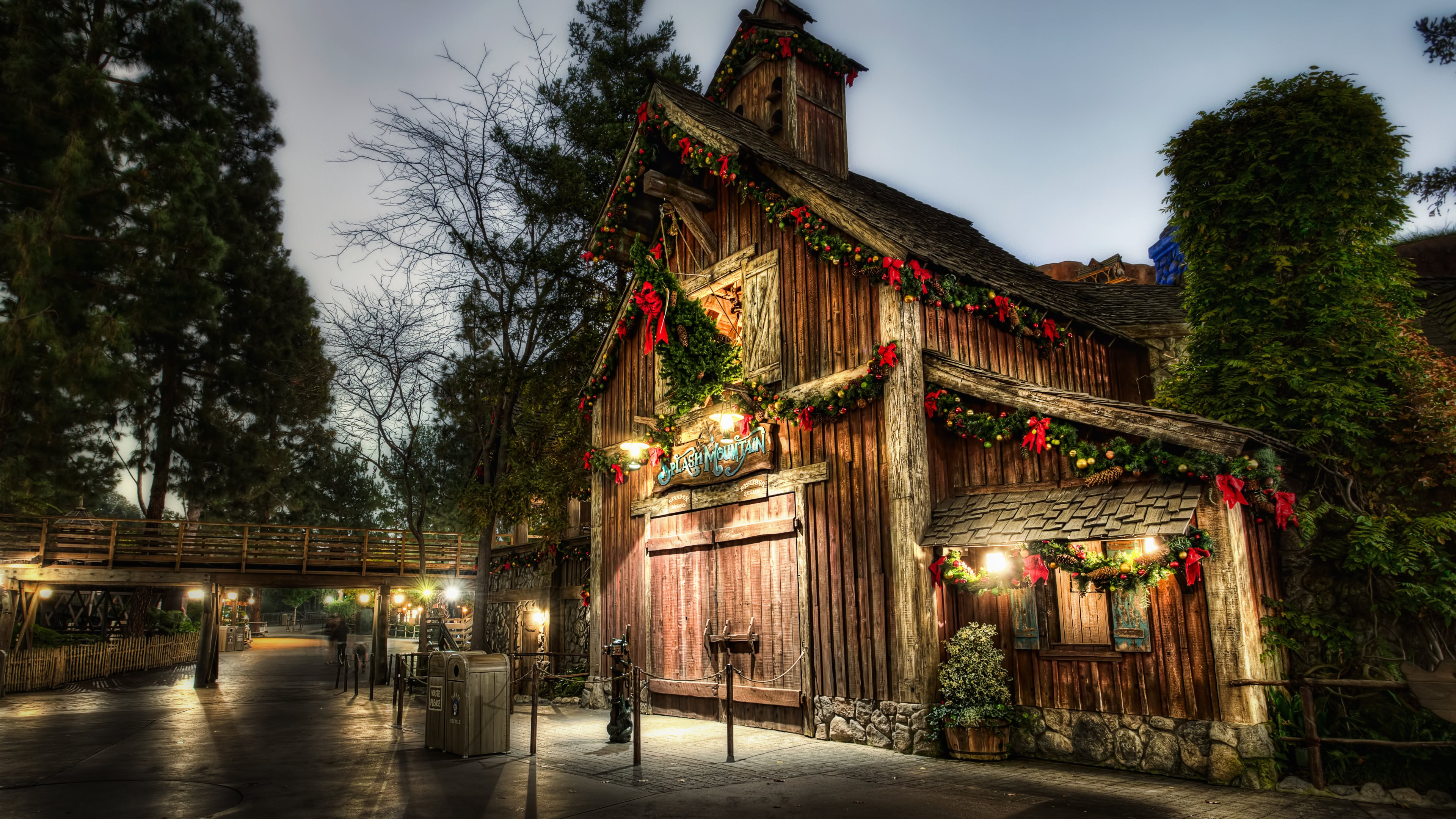 4k christmas wallpaper,building,town,architecture,night,lighting