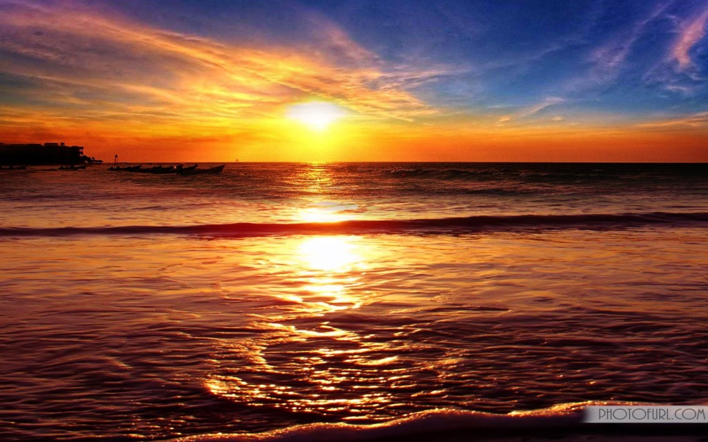 beach sunset wallpaper,sky,horizon,afterglow,body of water,sunset