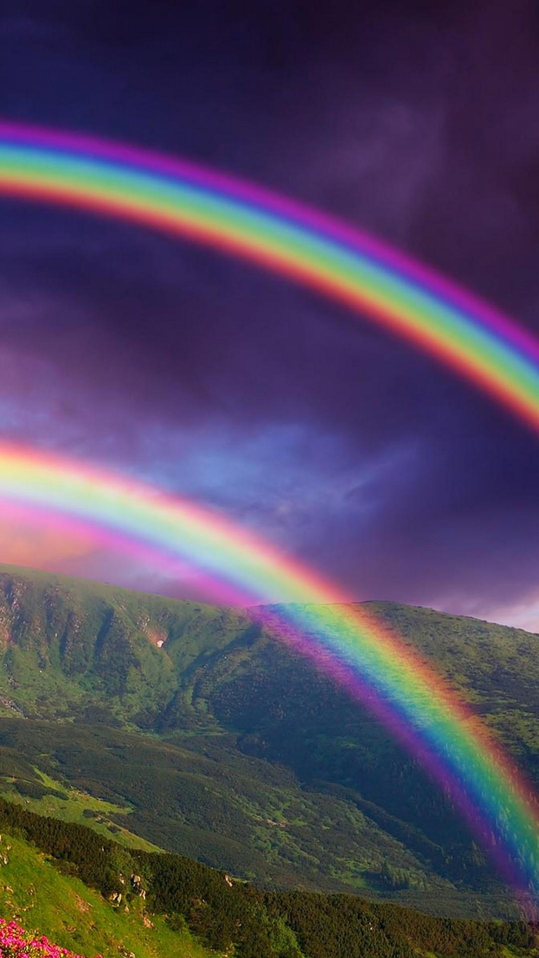 rainbow iphone wallpaper,rainbow,sky,nature,meteorological ...
